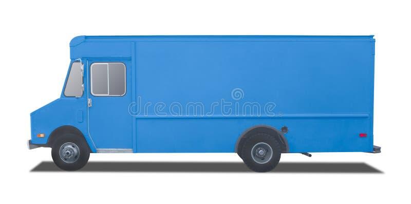 Camion de livraison d'isolement sur le blanc photo libre de droits