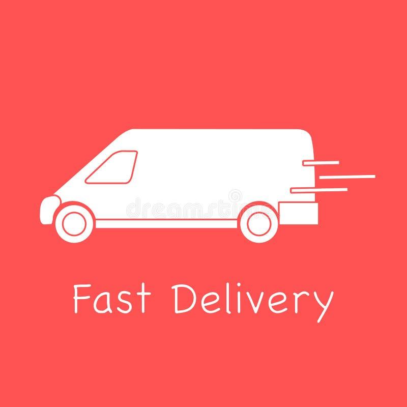 Camion de livraison Exp?dition rapide et commode la distribution lib?rent illustration libre de droits