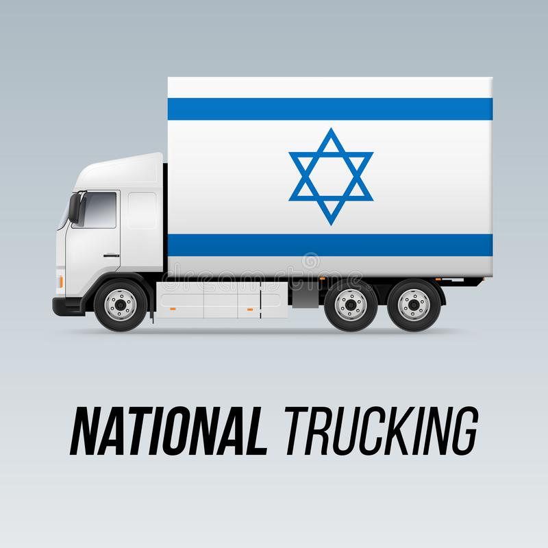Camion de livraison national illustration stock