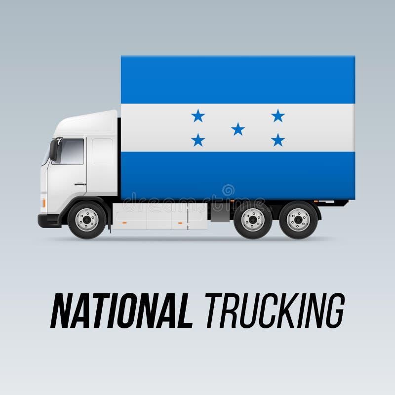 Camion de livraison national illustration de vecteur