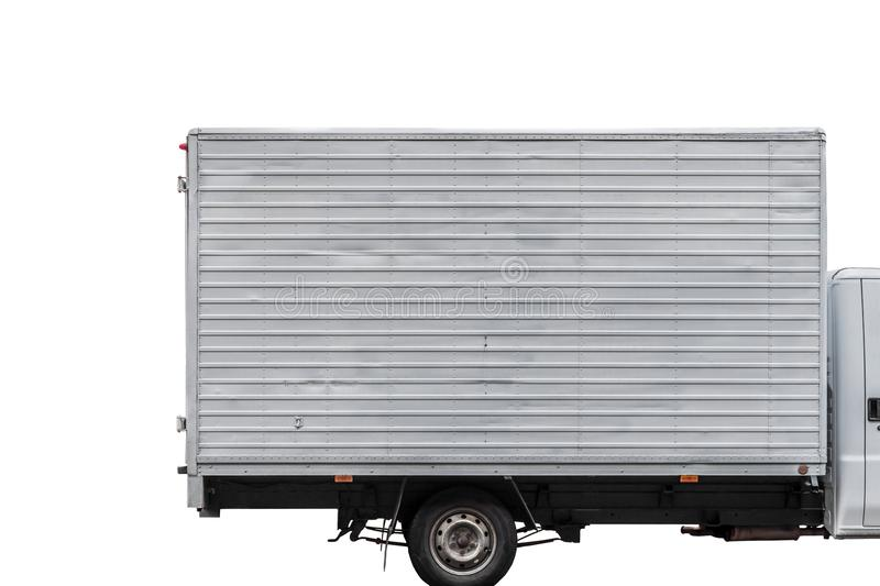 Camion de livraison rapide d'isolement sur le blanc photos libres de droits