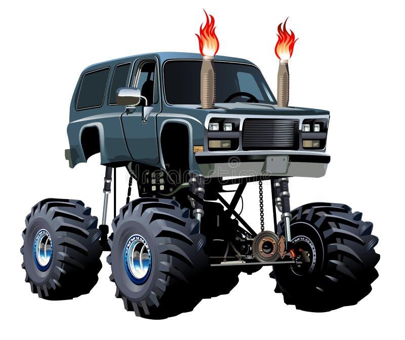Camion de monstre de bande dessinée illustration de vecteur