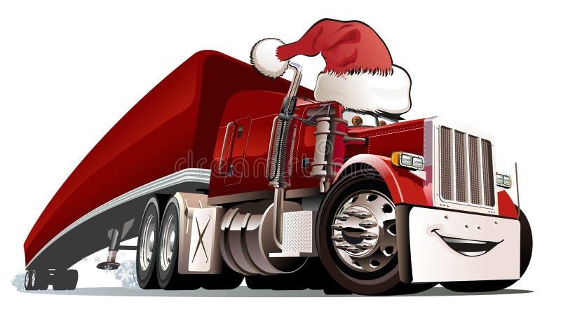 Camion de Noël de dessin animé illustration stock
