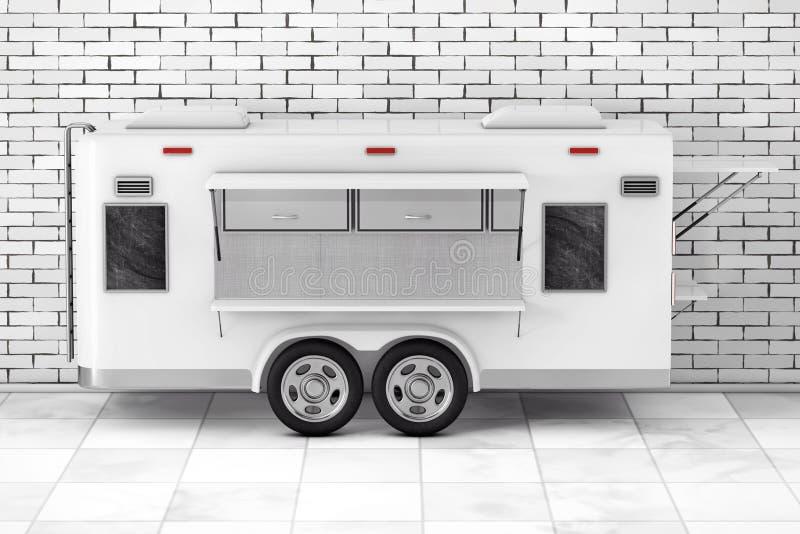 Camion de nourriture de caravane de courant d'air rendu 3d illustration libre de droits