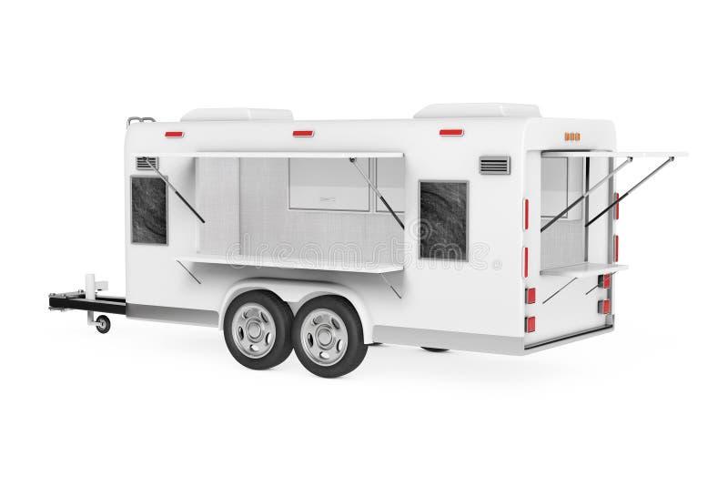 Camion de nourriture de caravane de courant d'air rendu 3d illustration de vecteur