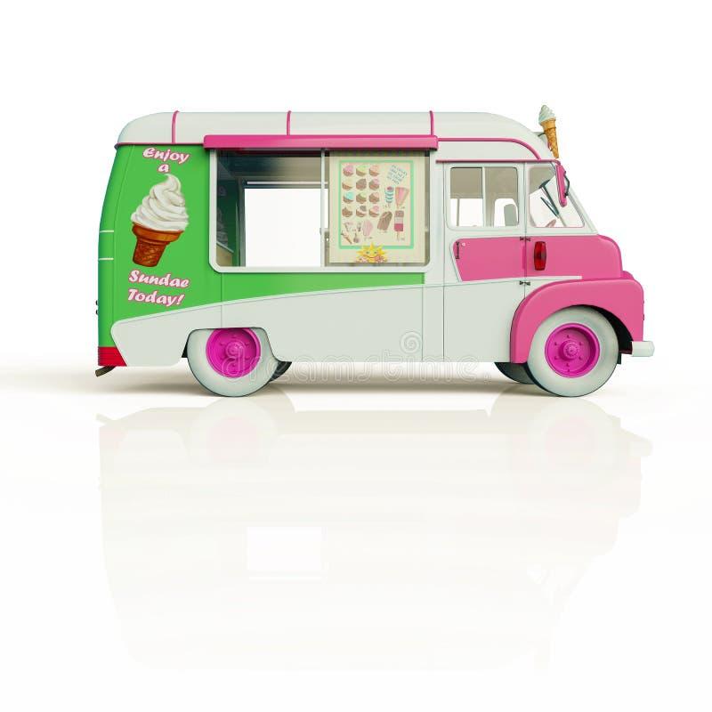 Camion de nourriture de crème glacée  illustration stock