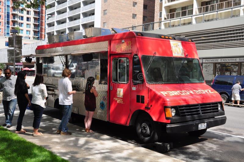 Camion de nourriture de Perogy Boyz photographie stock