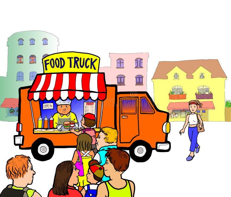 Camion de nourriture de rue illustration libre de droits