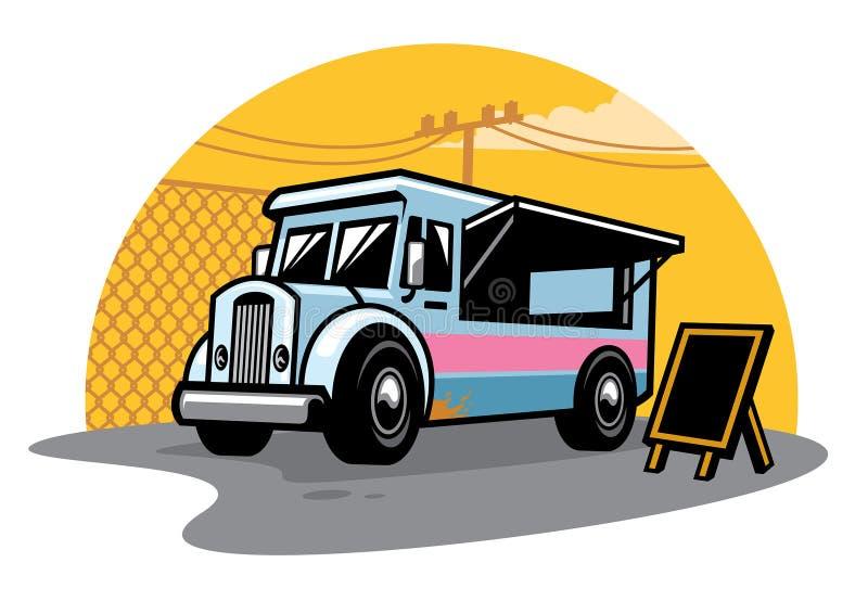 Camion de nourriture de rue illustration de vecteur