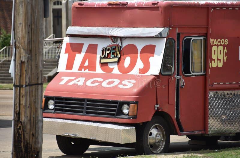 Camion de nourriture de Tacos photographie stock