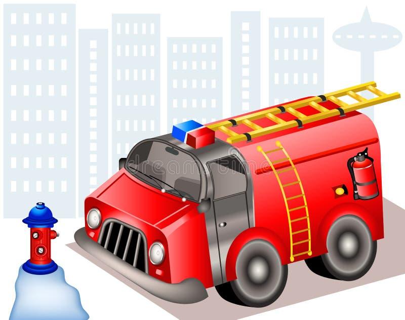 Camion de pompiers illustration de vecteur