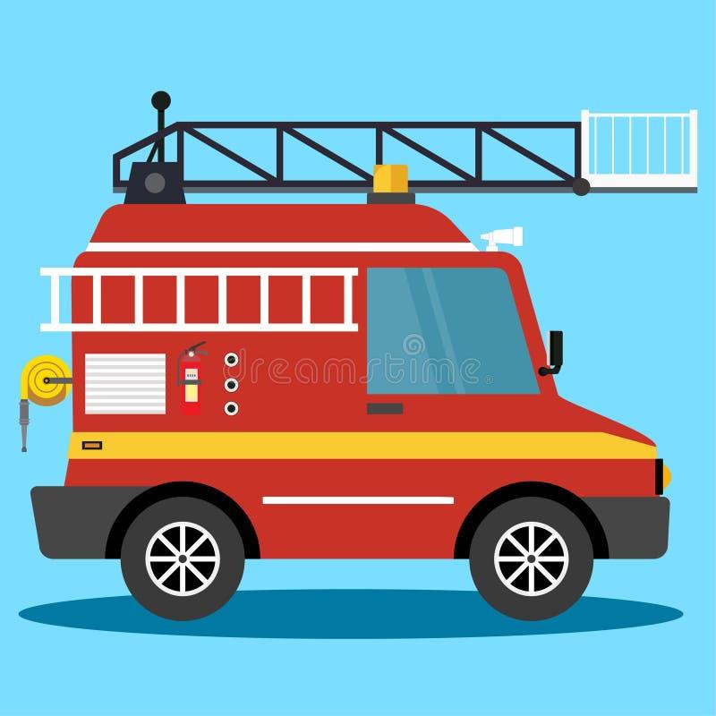Camion de pompiers d'illustration de vecteur urgence automatique de pompiers V?hicule de pompiers - vecteur illustration stock