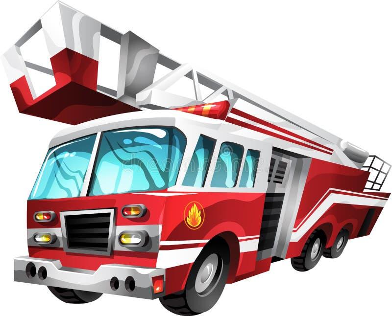Camion de pompiers de dessin anim illustration de vecteur - Camion de pompier dessin ...