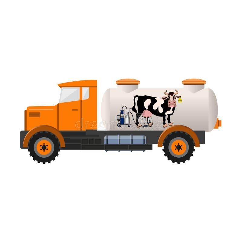 Camion de réservoir à lait illustration stock