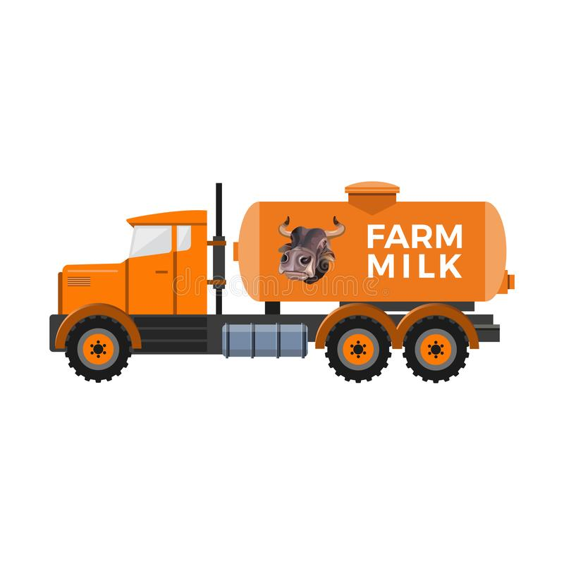 Camion de réservoir à lait illustration de vecteur