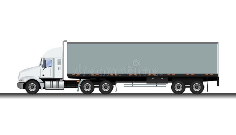 Camion de remorque illustration de vecteur