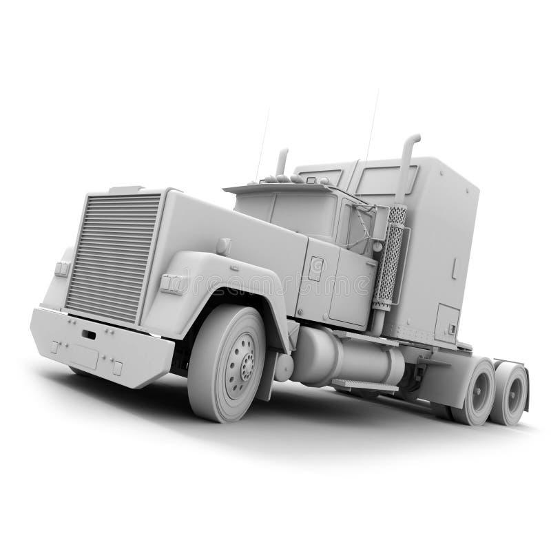 Camion de remorque américain blanc illustration libre de droits