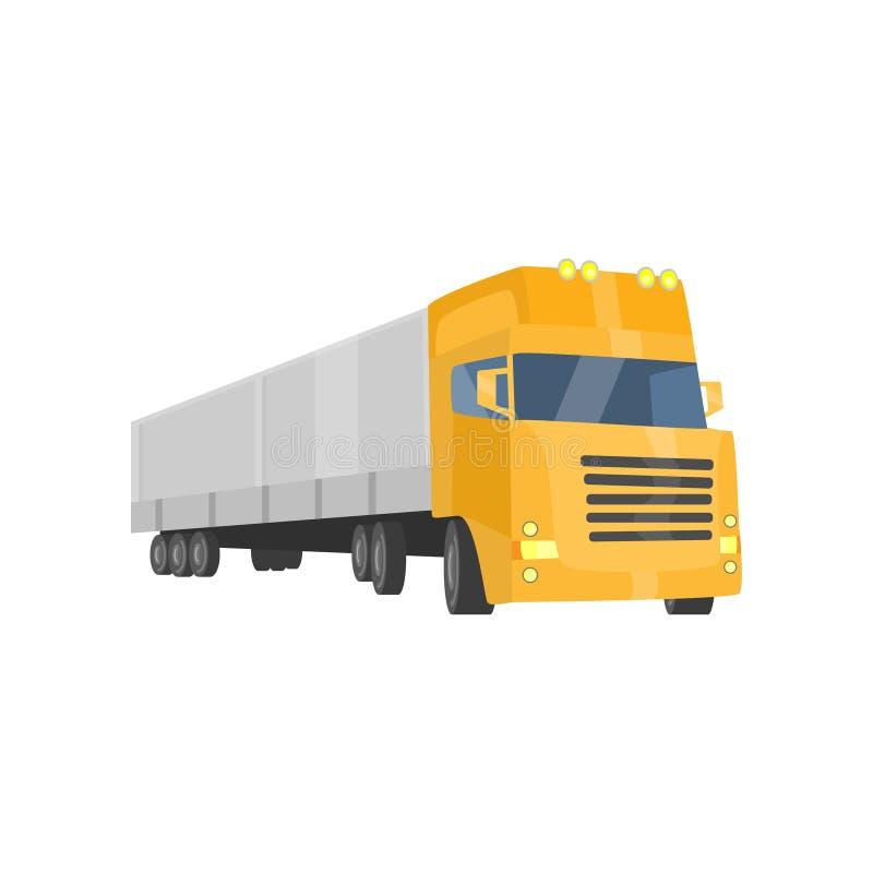 Camion de remorque de cargaison, transports maritimes et illustration de vecteur de transport illustration libre de droits