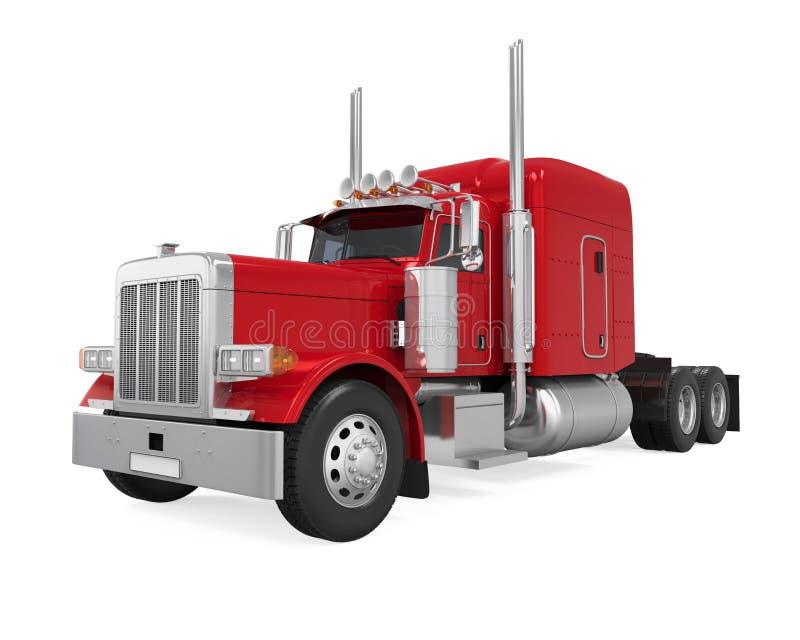 Camion de remorque rouge d'isolement illustration libre de droits
