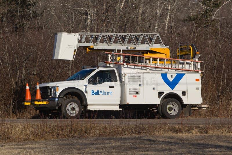 Camion de service de Bell Aliant image libre de droits