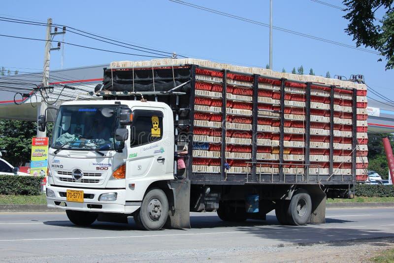 Camion de Songsang Company pour le transport de poulet image libre de droits
