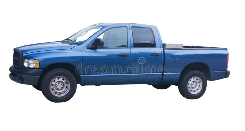 camion de trappe de 4 bleus photographie stock