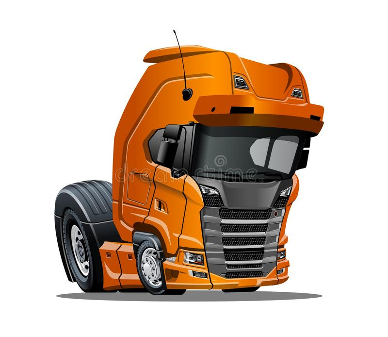 Camion dei semi del fumetto isolato su fondo bianco illustrazione vettoriale