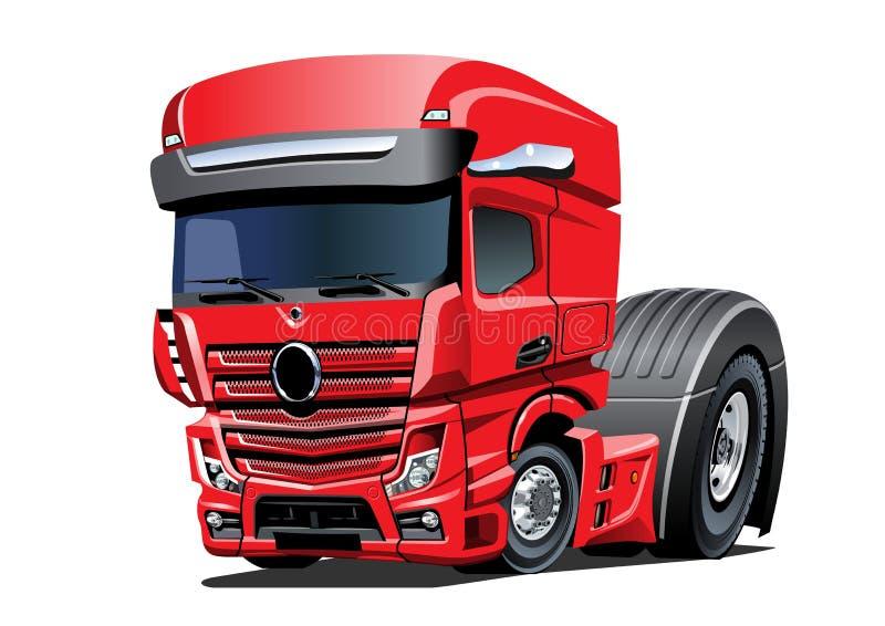 Camion dei semi del fumetto isolato su fondo bianco royalty illustrazione gratis