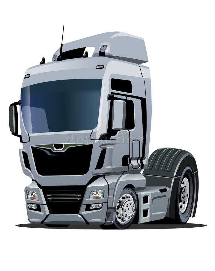 Camion dei semi del fumetto isolato su fondo bianco illustrazione di stock