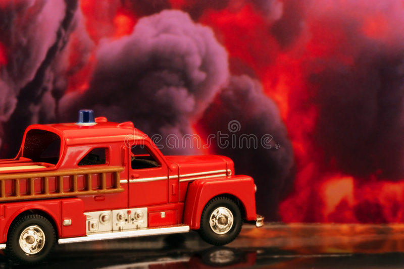 Camion Dei Vigili Del Fuoco Immagini Stock Libere da Diritti