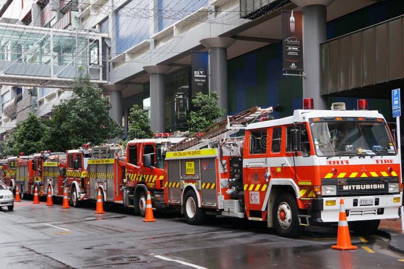 Camion dei vigili del fuoco - Auckland, Nuova Zelanda immagine stock libera da diritti