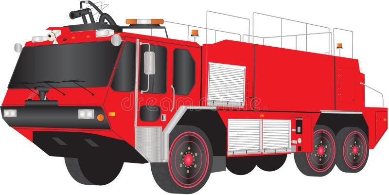 Camion dei vigili del fuoco dell'aeroporto illustrazione vettoriale