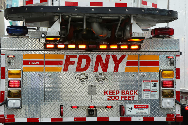 Camion dei vigili del fuoco di FDNY fotografie stock libere da diritti