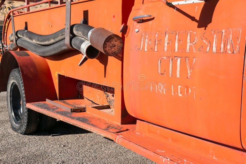 Camion dei vigili del fuoco di Jefferson City fotografia stock libera da diritti