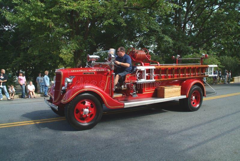 Camion dei vigili del fuoco istoric antico di County di principe un George fotografia stock