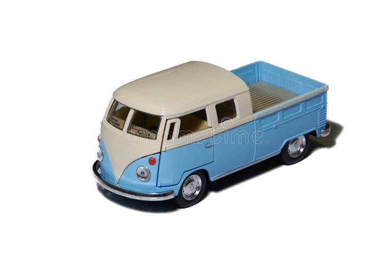 Camion del camper con il contenitore su fondo bianco isolato immagini stock libere da diritti