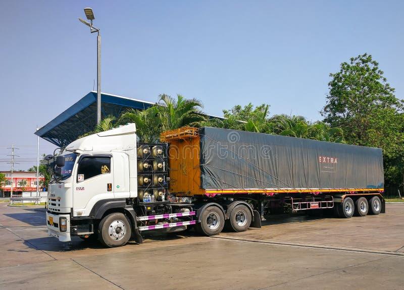 Camion del carico immagini stock