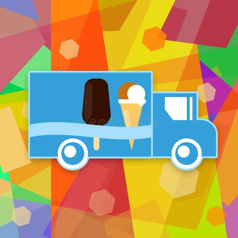 Download Camion del gelato illustrazione di stock. Illustrazione di automobile - 56882137