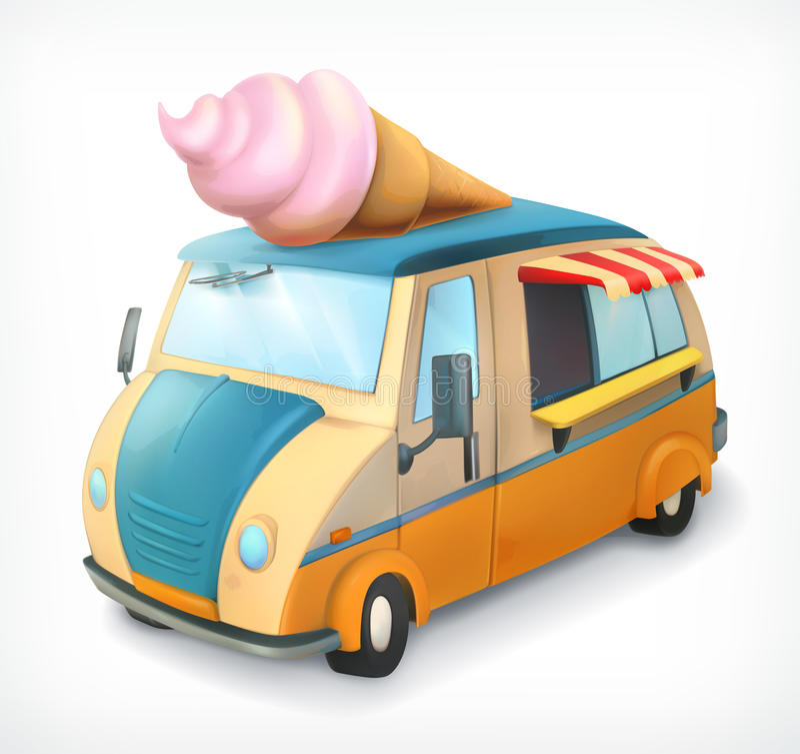 Camion del gelato royalty illustrazione gratis