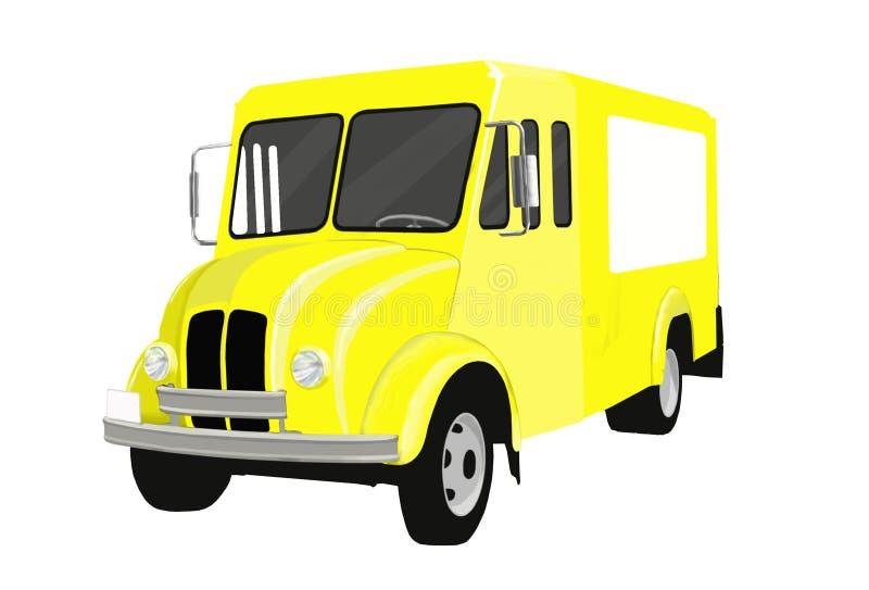 Camion del latte illustrazione di stock