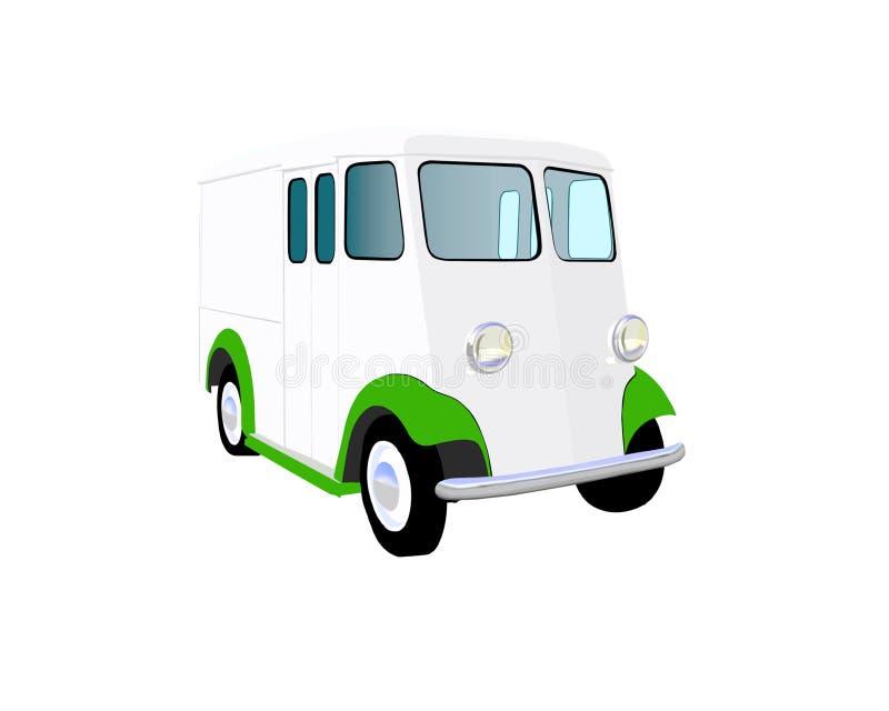 Camion del latte di anni '20 illustrazione di stock