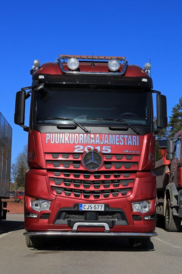Camion del legname di Mercedes-Benz Arocs 3563L 8x4 immagine stock libera da diritti