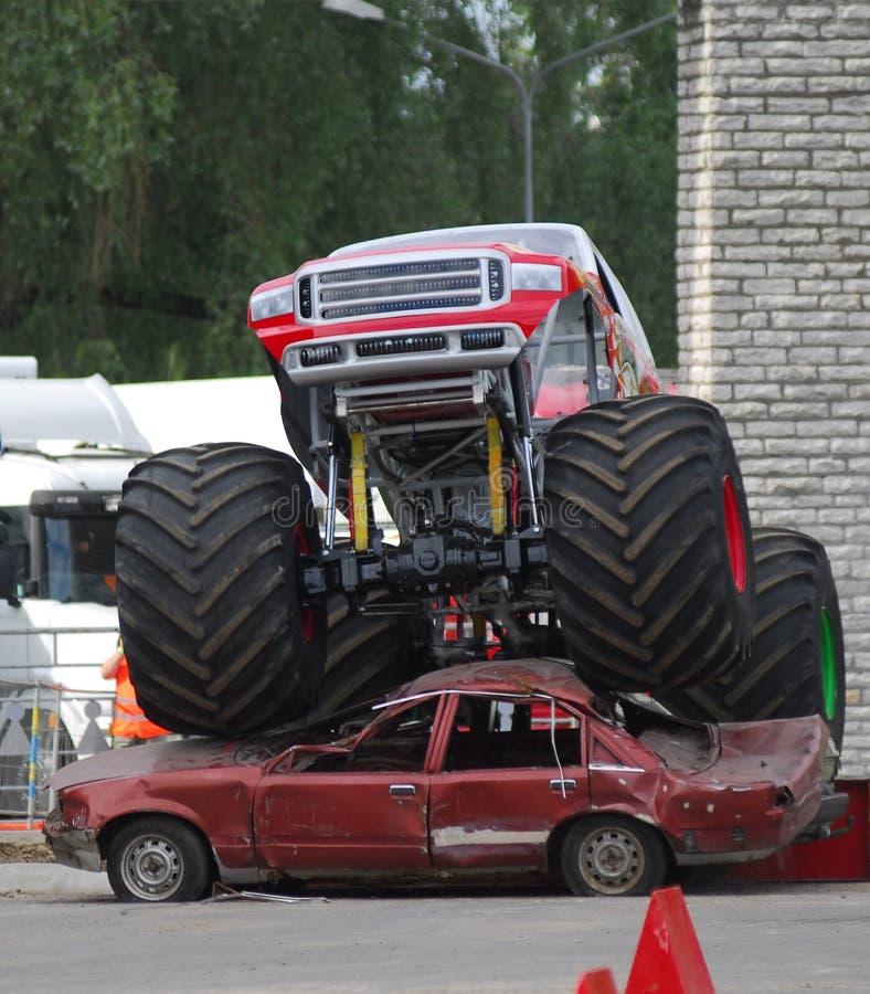 Camion del mostro immagine stock