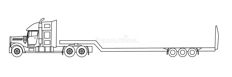 Camion del semirimorchio illustrazione di stock