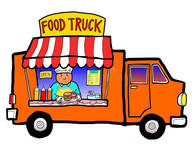 Camion dell'alimento della via illustrazione vettoriale