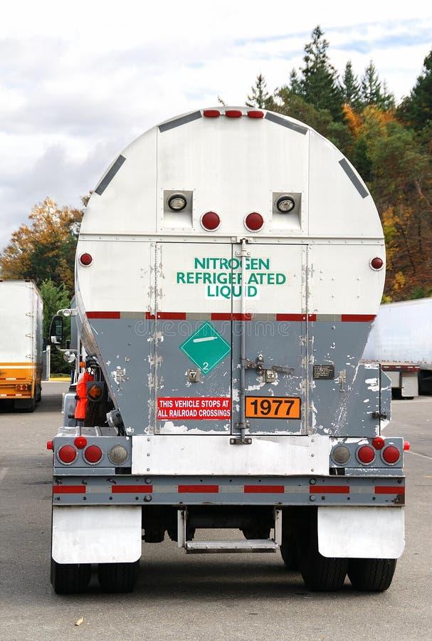 Camion dell'azoto liquido UN1977 fotografia stock libera da diritti