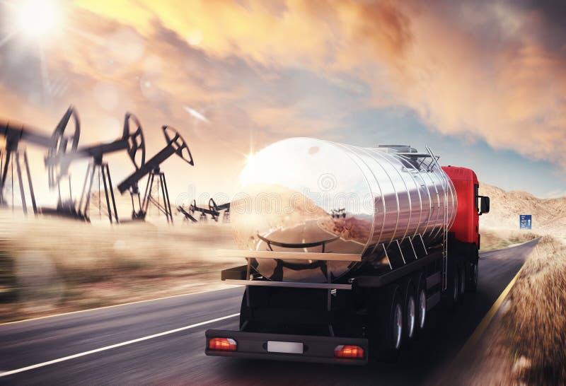 Camion dell'olio immagine stock libera da diritti