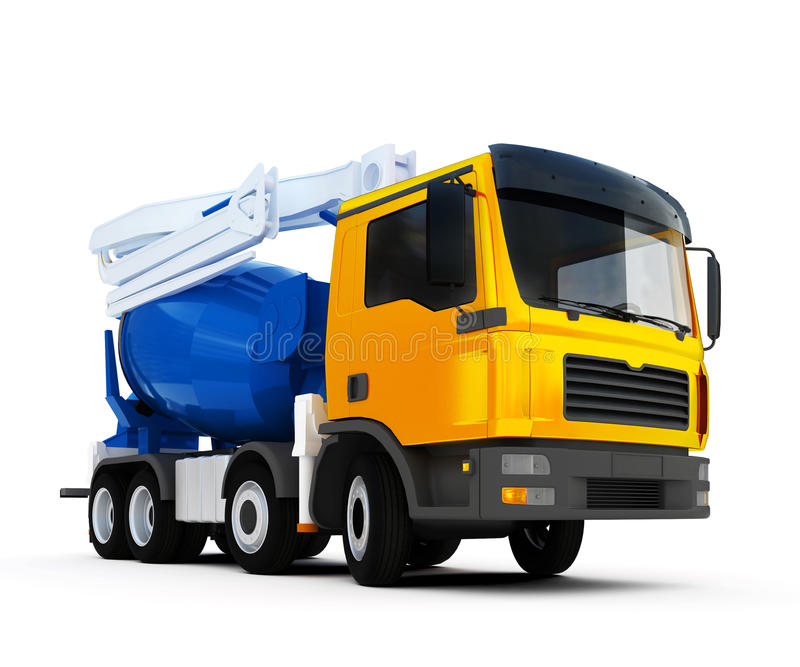 Camion della betoniera illustrazione di stock