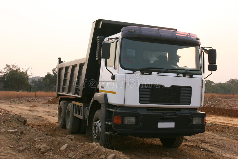 Camion della costruzione pesante fotografia stock libera da diritti