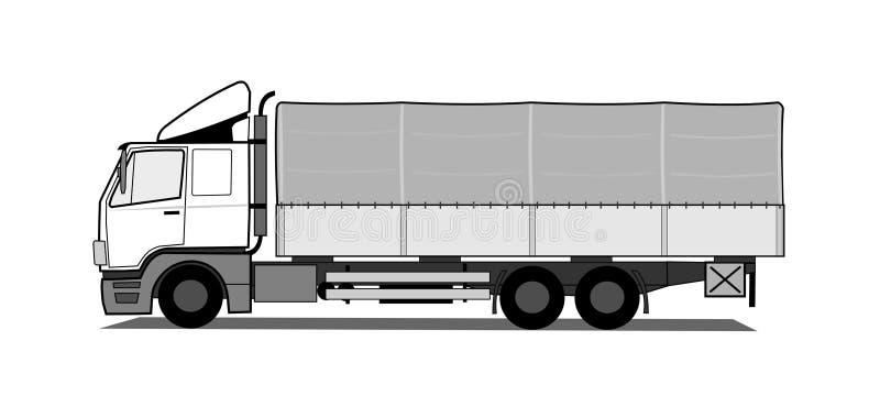 Camion della tela incatramata illustrazione di stock